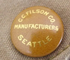 Filson Enameled Button in Gold