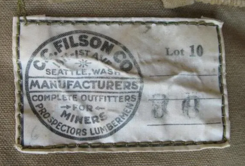 Filson Manufacturing Tag with Address