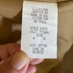 Filson Production Tag with Production Date