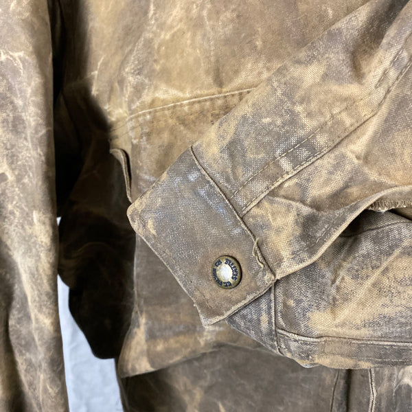 Outer Left Sleeve View of Vintage Filson Tin Cloth Jacket Style 623N