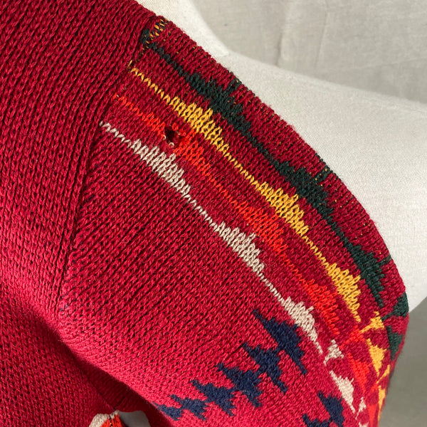 Alternate Shot of Small Shoulder on Vintage Pendleton High Grade Western Wear Wool Sweater SZ L