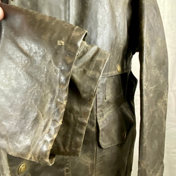 Right Cuff View of Vintage Filson Shelter Cloth Packer Jacket