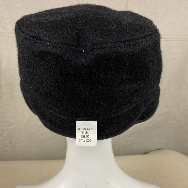 Rear View of Black Filson Mackinaw Wool Hat Size M