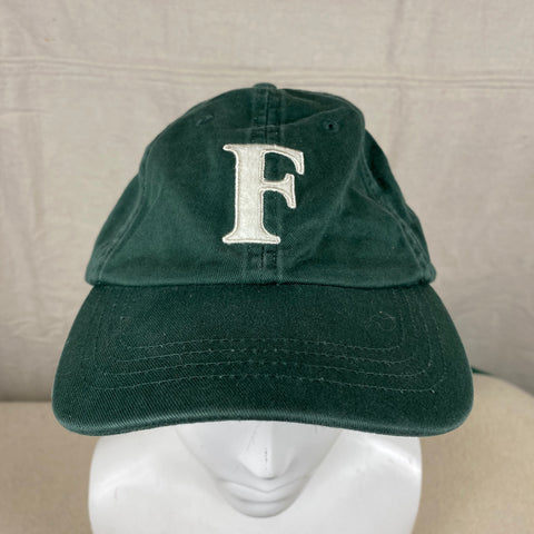 Front View of Filson Green F Hat One Size Fits All