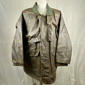 Front View of Vintage Filson Tin Cloth Packer Jacket Size XXL