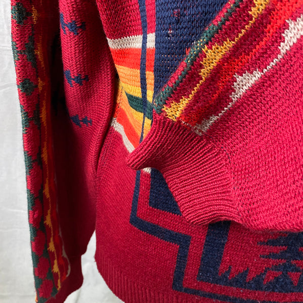Left Cuff View on Vintage Pendleton High Grade Western Wear Wool Sweater SZ L