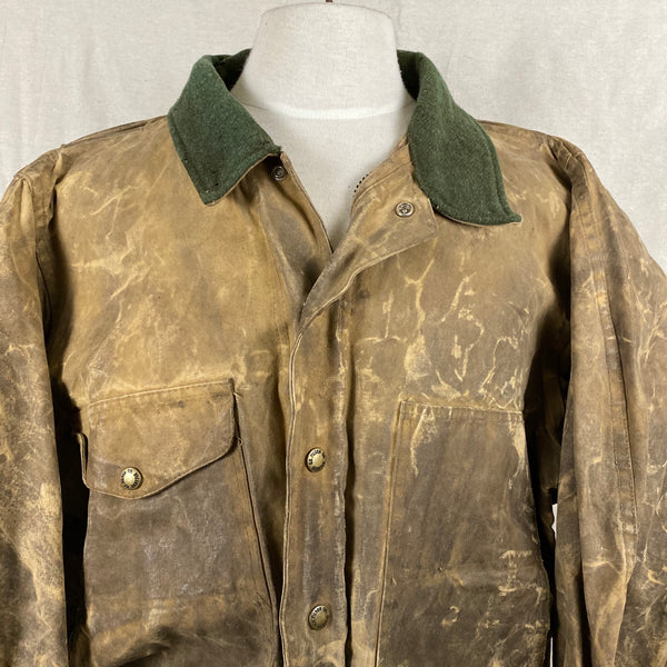 Upper Chest View of Vintage Filson Tin Cloth Jacket Style 623N