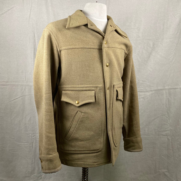 Right Angle View on Vintage Pendleton Wool Tan Coat
