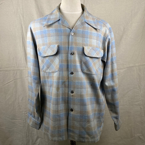 Front View of Vintage Pendleton Board Shirt SZ L
