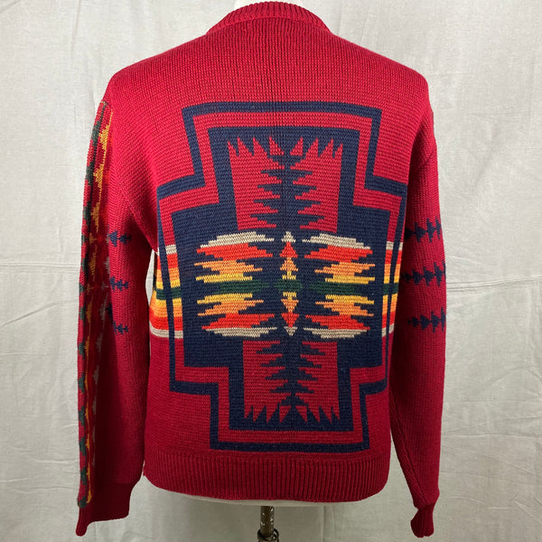 Rear View of Vintage Pendleton High Grade Western Wear Wool Sweater SZ L