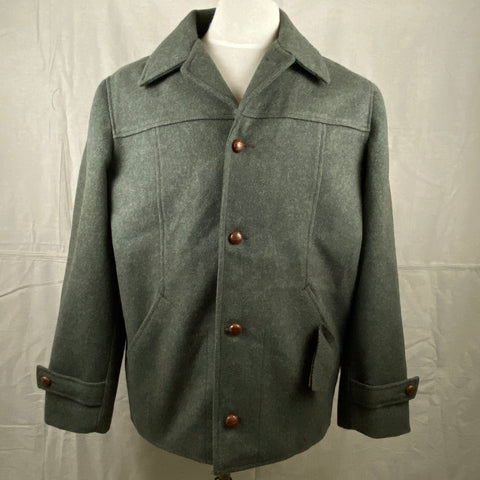 Front View of Vintage Union Made Filson Wool Car Coa