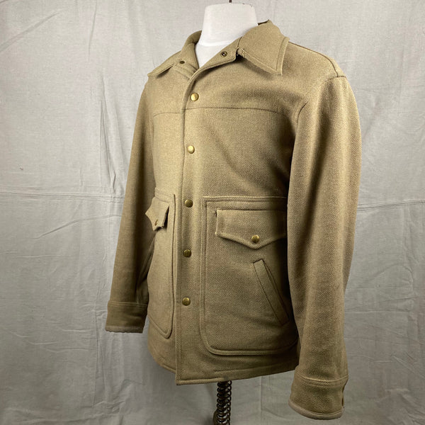 Left Angle View of Vintage Pendleton Wool Tan Coat