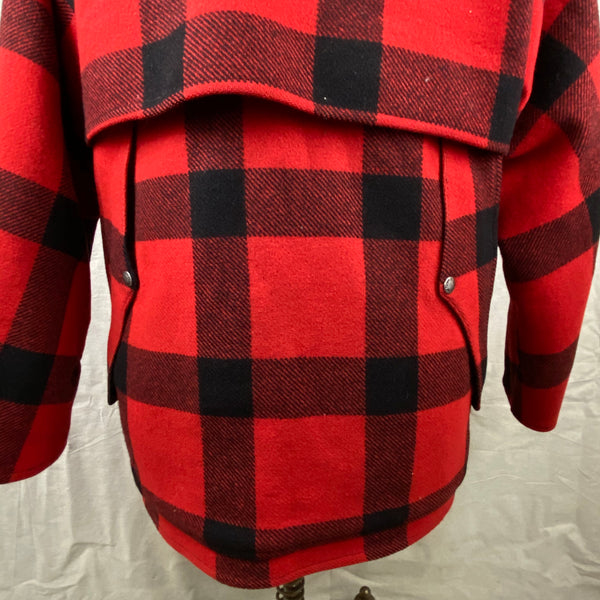 Vintage Union Made Filson Double Mackinaw Red and Black