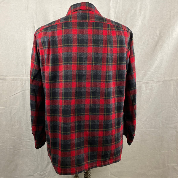 Rear View of Vintage 50s/60s Era Red and Black Pendleton Board Shirt SZ M
