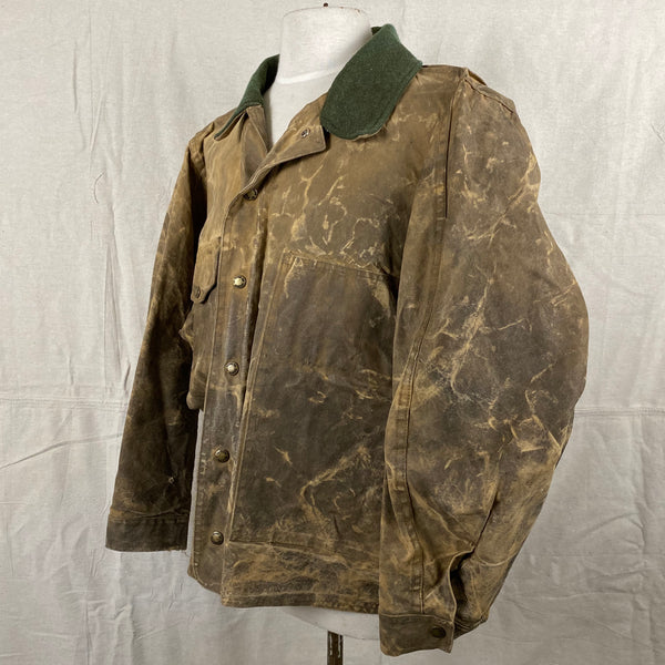 Left View of Vintage Filson Tin Cloth Jacket Style 623N