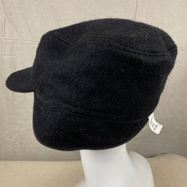 Left Rear Angle View of Black Filson Mackinaw Wool Hat Size M