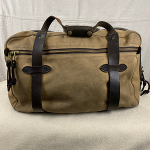 Side View of Vintage Filson Pullman Rugged Twill Suitcase with Talon Zippers