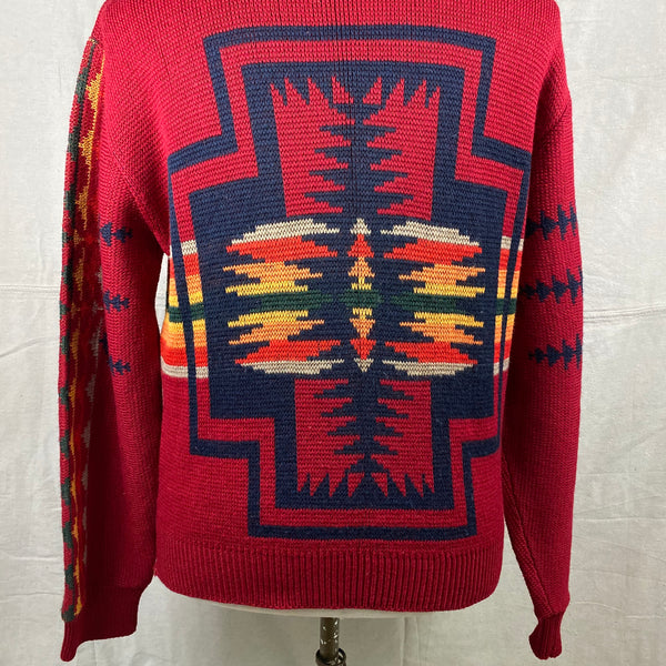 Lower Rear View of Vintage Pendleton High Grade Western Wear Wool Sweater SZ L