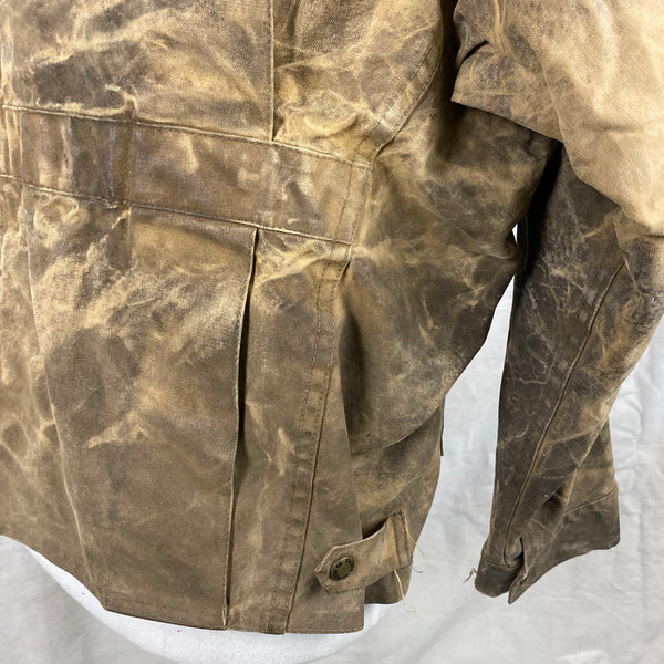 Lower Right Rear View of Vintage Filson Tin Cloth Jacket Style 623N