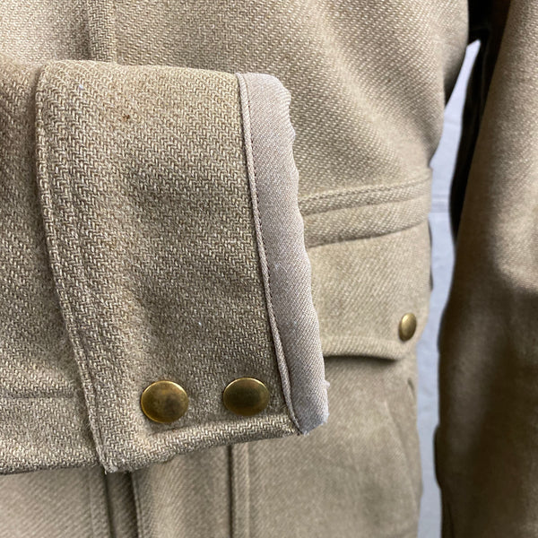 Right Cuff View on Vintage Pendleton Wool Tan Coat