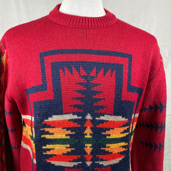 Upper Chest View of Vintage Pendleton High Grade Western Wear Wool Sweater SZ L