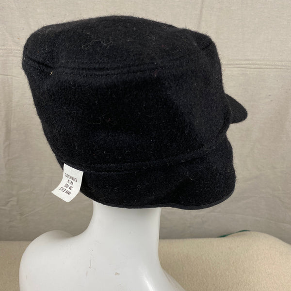 Right Rear Angle View of Black Filson Mackinaw Wool Hat Size M