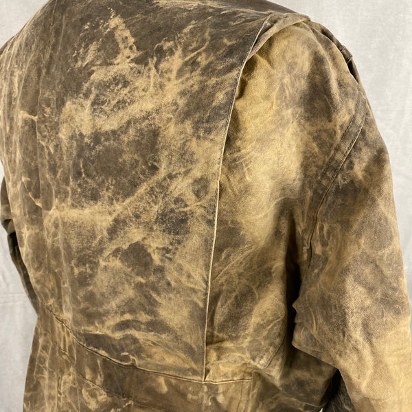 Upper Right Rear View of Vintage Filson Tin Cloth Jacket Style 623N
