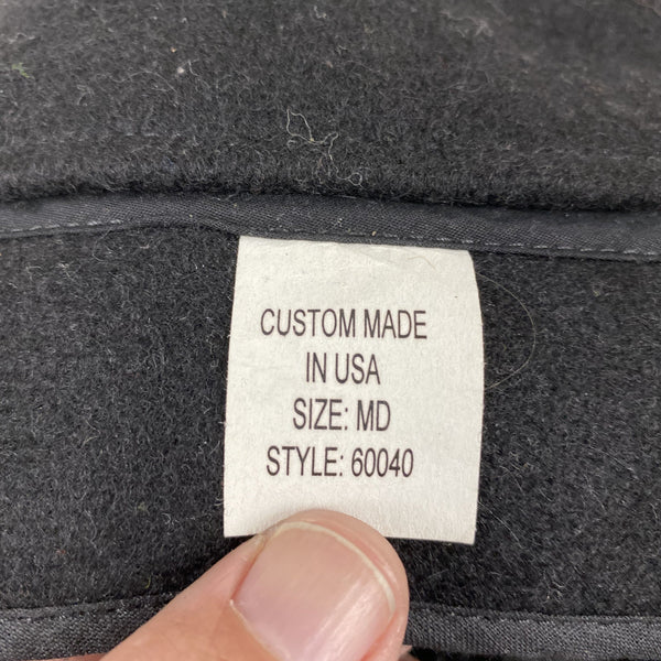 Tag View of Black Filson Mackinaw Wool Hat Size M