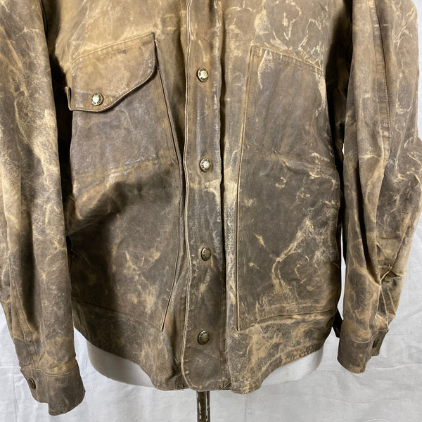 Lower front View of Vintage Filson Tin Cloth Jacket Style 623N