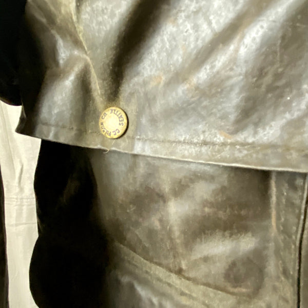 Button View of Vintage Filson Shelter Cloth Packer Jacket