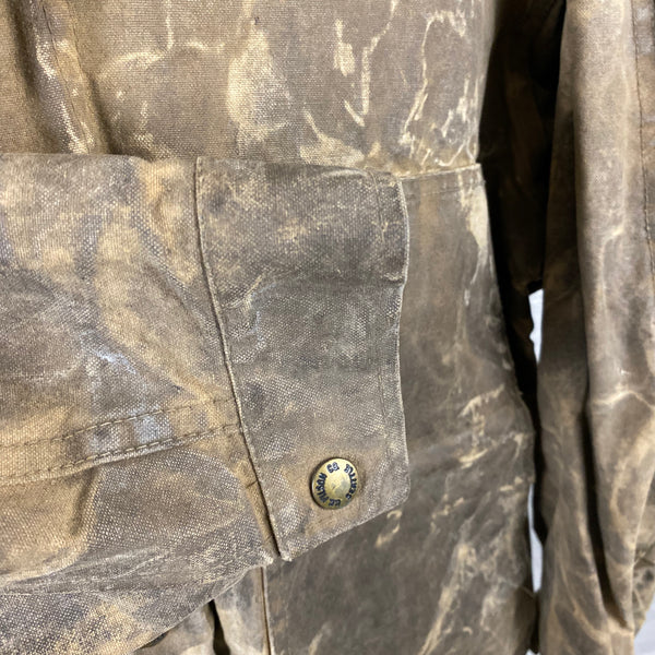 Outer Right Sleeve View of Vintage Filson Tin Cloth Jacket Style 623N