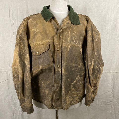 Front View of Vintage Filson Tin Cloth Jacket Style 623N