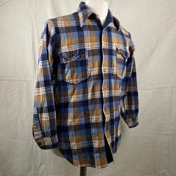 Right Angle View of Vintage Pendleton Plaid Wool Flannel Shirt SZ 16 1/2