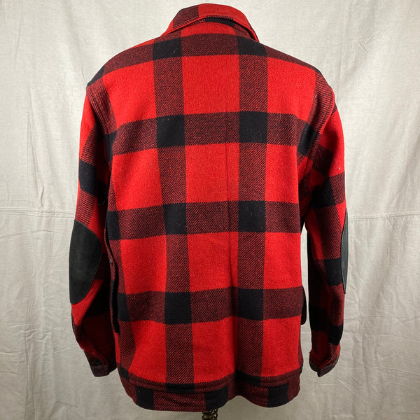 Rear View of Vintage Union Made Filson Wool All Use Coat Wool Mackinaw