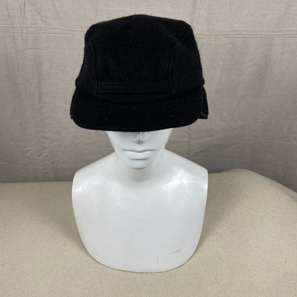 Front View of Black Filson Mackinaw Wool Hat Size M