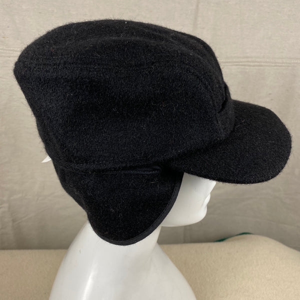Right Side View of Black Filson Mackinaw Wool Hat Size M