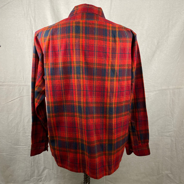 Rear View of Vintage Red Blue & Yellow Pendleton Board Shirt SZ L