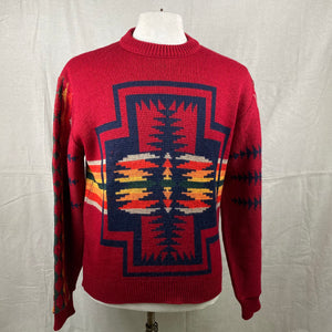 Front View of Vintage Pendleton High Grade Western Wear Wool Sweater SZ L