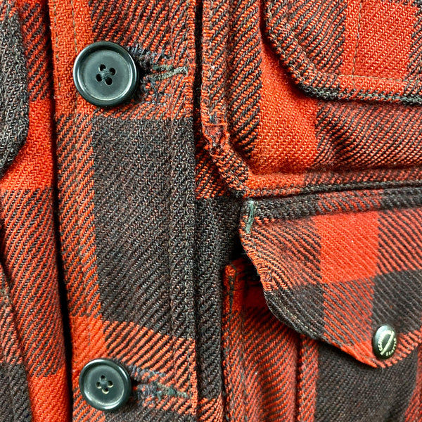 Small Wear on Upper Left Pocket on Vintage 40's/50's Era Union Made Filson Wool Mackinaw