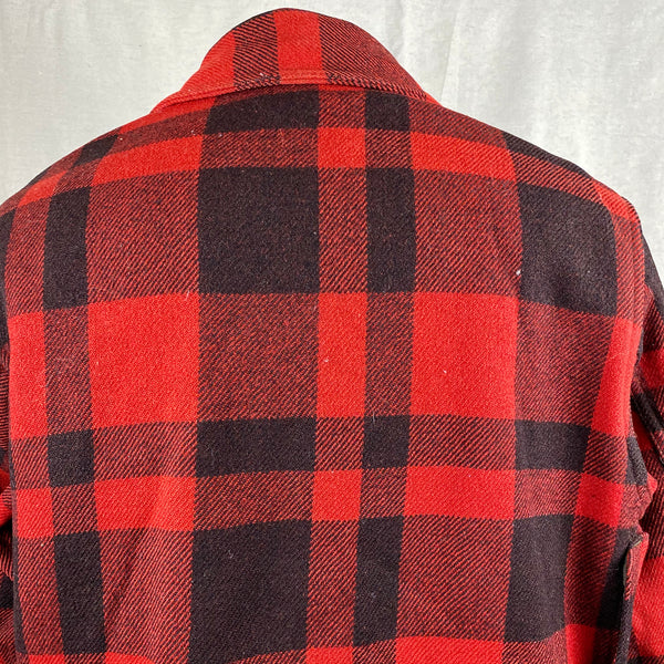 Rear Shoulder View on Vintage 40's/50's Era Union Made Filson Wool Mackinaw
