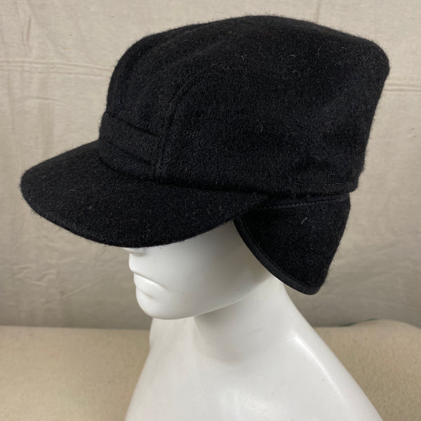 Left Side View of Black Filson Mackinaw Wool Hat Size M