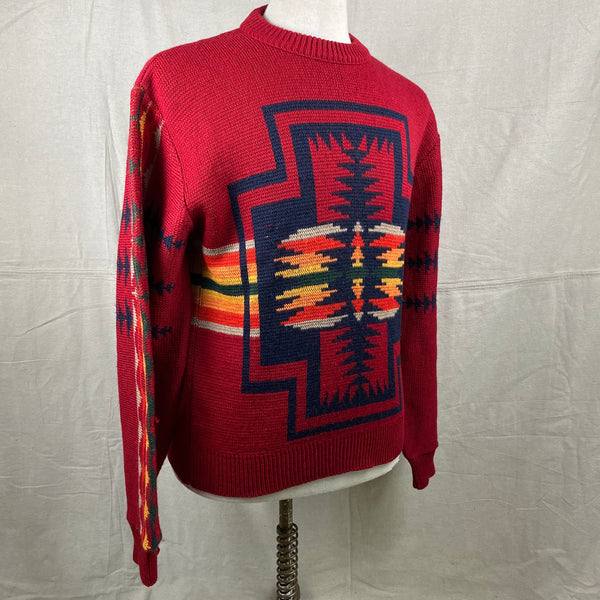 Right Angle View of Vintage Pendleton High Grade Western Wear Wool Sweater SZ L