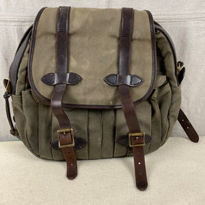 Front View of Filson Otter Green Rugged Twill Rucksack