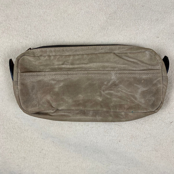 Side View of Filson Mini Dop Kit Toiletries Bag Soy Wax Finished Style 70316