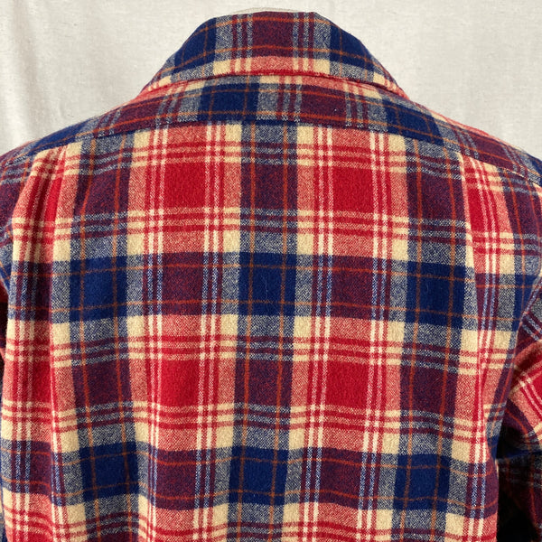 Upper Rear View on Vintage Red & Blue Pendleton Board Shirt SZ L