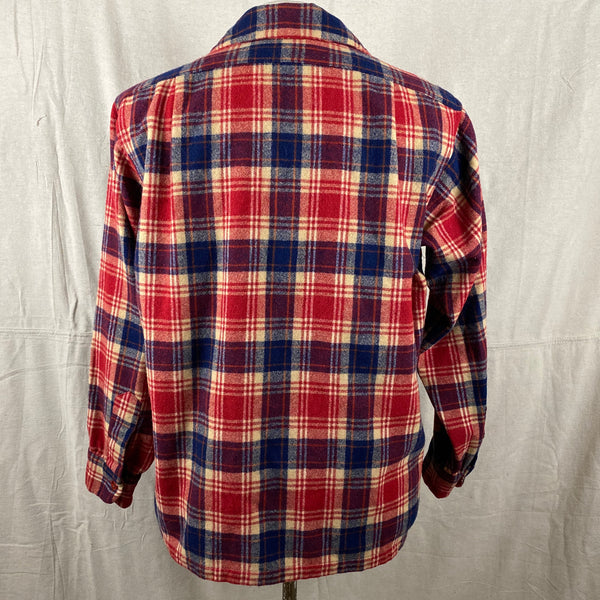 Rear View on Vintage Red & Blue Pendleton Board Shirt SZ L