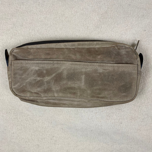 Other Side View of Filson Mini Dop Kit Toiletries Bag Soy Wax Finished Style 70316