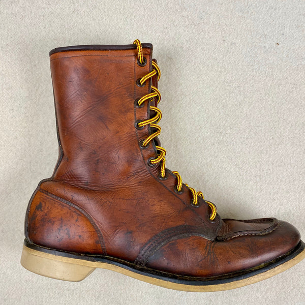 Right Vintage 1950s Red Wing Moc Toe 877's Rare Size 9
