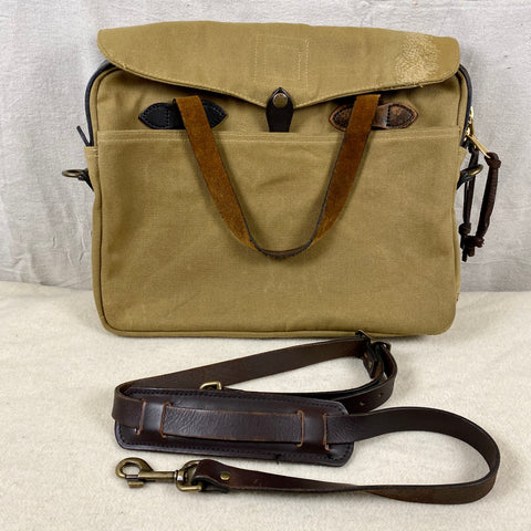 Filson Restoration Department Original Rugged Twill Tan Briefcase FRD
