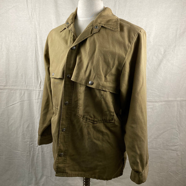 Left Angle View of Vintage Filson Dry Finish Tin Cloth Cruiser